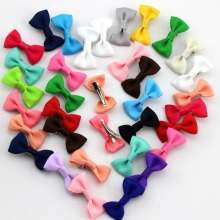"24pcs/lot    2"" Little Ribbon Bow Fashion Baby hair accessories Children Bowknot Hair clips Lovely Colorful Ribbons Baby Hairpin"