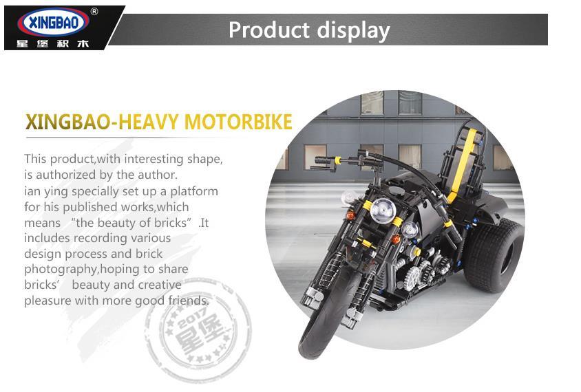 Xingbao XB-03020 Harley Davidson Motorcycle Building Block 29