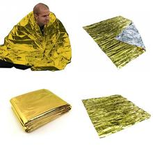 Hot Sale 210*130CM Emergency Rescue Blanket Outdoor Survival Insulation Blanket PET Aluminum Laminated Film Rescue Blanket(China)