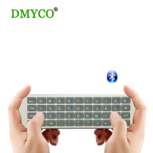 Hot!!! Newest Mini Wireless Bluetooth Keyboard Air Mouse Equipped with two silicon 155X46X15mm For PC Smart TV HTPC Media Player(China)