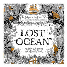 24 pages LOST OCEAN coloring book antistress for children adult relieve stress painting drawing secret garden colouring books