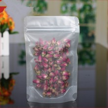 "DHL 12*20cm 600Pcs/ Lot Stand Up Plastic Valve Package Pouch 4.72""x7.87"" Sugar Nuts Matte Clear Doypack PE Zipper Food Bag"