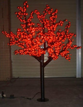 Free ship Indoor /Outdoor LED Christmas Holiday party wedding Light Cherry Blossom Tree Holiday Decor 864 LEDs 6ft RED