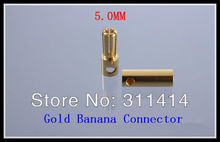 10pairs/lot 5.0mm 5mm Golden Banana Connectors Plug For RC Battery ESC Brushless Motor High Quality Retail Dropship(China)
