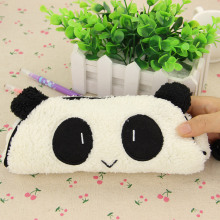 1 PC Cute Kawaii 3D Plush Panda Pencil Case Large Capacity School Supplies Noverty Item for Kids