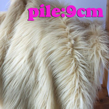 "Beige  Shaggy Faux Fur Fabric (long Pile fur)  Costumes  Cosplay  Newborn Photo Props 36""x60"" Sold By The Yard  Free Shipping"
