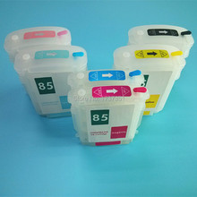 69ml/28ml 6 color refil ink cartridge with permanent chip for HP 84 85 for HP Designjet 10 20 50 120 printer(China)