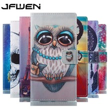 JFWEN Luxury 3D Painted For Coque Sony Xperia L1 Case Wallet Flip Leather Case Card Slot For Sony Xperia L1 Case 5.5 Back Covers(China)