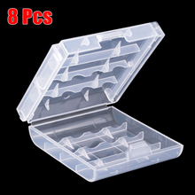 6.7 x 6.1 x 1.8cm 8pcs Battery Holder Storage Plastic Cover Case For 4pcs AA AAA Battery Holder Case Rechargeable Bateria Holder(China)