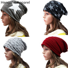 Five - pointed star fashion girls boys hats spring autumn winter cotton double thin head caps solid color men women beanies