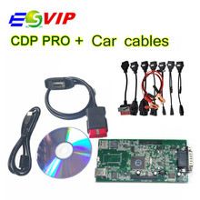 Discount price The latest version VCI PRO TCS CDP Pro plus with 2014.R2/2015.R3 Free Activate + 8 car cables DHL Free Shipping