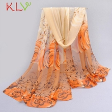 Bestselling Women lady lover flower chiffon scarf Thin Soft Scarf women shawl Beach sunshine cover female beautiful scarf JN6