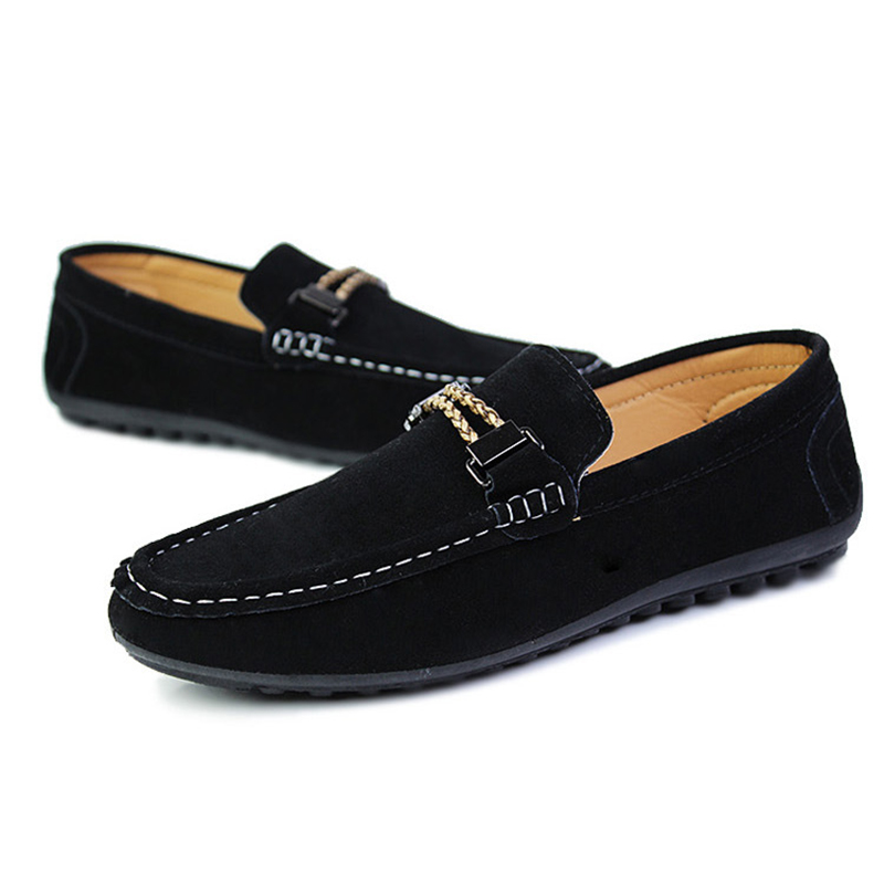 SYTAT New Mens Suede Flats Casual Classic Boat Driving Slip-On Shoes Fashion Men Loafers Non-Slip Flat Shoe Size 39-44<br><br>Aliexpress