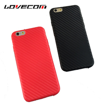 LOVECOM For iPhone 5S 6 6S Plus 7 Plus Phone Cases Weave Stripe China Red Silicon Soft TPU Back Cover Bags Coque Capa Shell