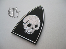 Free shipping skeleton pattern aluminum material handmade truss rod cover for PRS electric guitar(China)