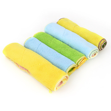 Double-Sided Micro Fiber Dish Closth Good Quality Washing Cloth Colorful Cleaning Cloths
