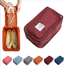 Waterproof Portable Travel Organiser Nylon Pouch Shoes Organizer Bag(China)