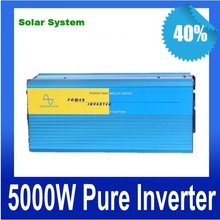 5000W de onda sinusoidal pura inversor Off Grid inverter 12V 24V DC to AC 110V or 230V,Pure Sine Wave Solar Wind Power Inverter(China)
