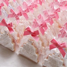 12*25cm 100Pcs/ Lot Clear Biscuit PE Storage Pouch Party Gift Chocolate Lollypop Wedding Candy Bread Cooky Plastic Packing Bags