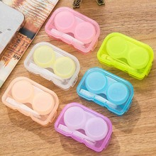 Random Color 1piece2017 Fashion Best Transparent Pocket Plastic Contact Lens Case Travel Kit Easy Take Container Holder Hot sale(China)