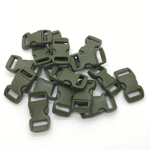 "10pcs/lot 3/8"" 10mm Wide Army green Contoured Side Release For Paracord Bracelet Plastic Buckle(China)"