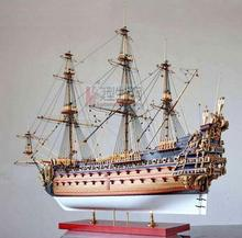 Child puzzle toys Wooden Ship Models Kits 1:90 3d DIY Cut Model Diy Train Hobby Model Ship Wooden Boats La solei Royale(China)
