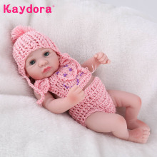 Kaydora 10 Inches Full Silicone Reborn Doll 25cm new bebe reborn baby toys for girls gifts Bathe Doll Brinquedos For Children(China)