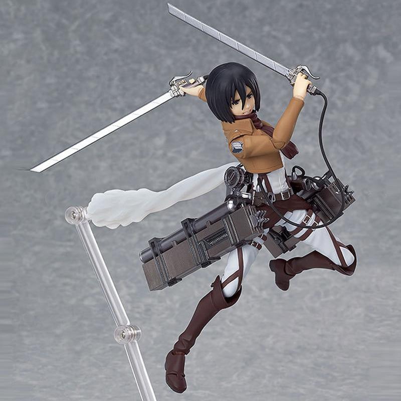 Japan Anime Attack On Titan Figma 203 Mikasa Ackerman 6 PVC Action Figure Model Doll Toys Anime Figure Collectible Model Toy<br><br>Aliexpress