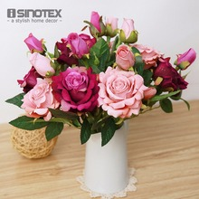 Artificial Flowers For Wedding Decoration Mariage Birthday Party Crafts Bridal Bouquet Floral Buds Decorative Flowers 1 PCS/Lot(China)