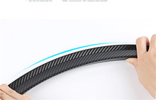 Newest design Soft wheel eyebrow protector wheel 150CM Arch trim strip for ford focus 2 carbon fiber / black 2pcs
