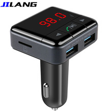 New Arrival Handsfree Wireless Bluetooth Car Kit MP3 Player FM Transmitter Radio APP Control Car Charger For iPhone 5S 6 6S 7
