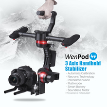 WenPod MD2 64Bit 3-Axis Intelligent Gimbal Handheld Camera Stabilizer Auto Calibration For DSLR Canon SONY Panasonic 3KG