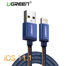 Ugreen MFi Lightning Cable For iPhone 7 Denim Braided 8 Pin USB Cable Fast Charger Data Cable for iPhone 8 8 Plus 6 5 iPad Cable(China)
