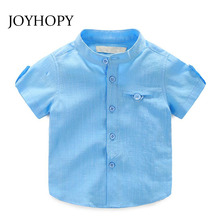 New Summer Short Sleeve Boy's Shirts Casual Breathable Cotton Camisa Masculina Blouses for Children Clothing Kids Boys Clothes
