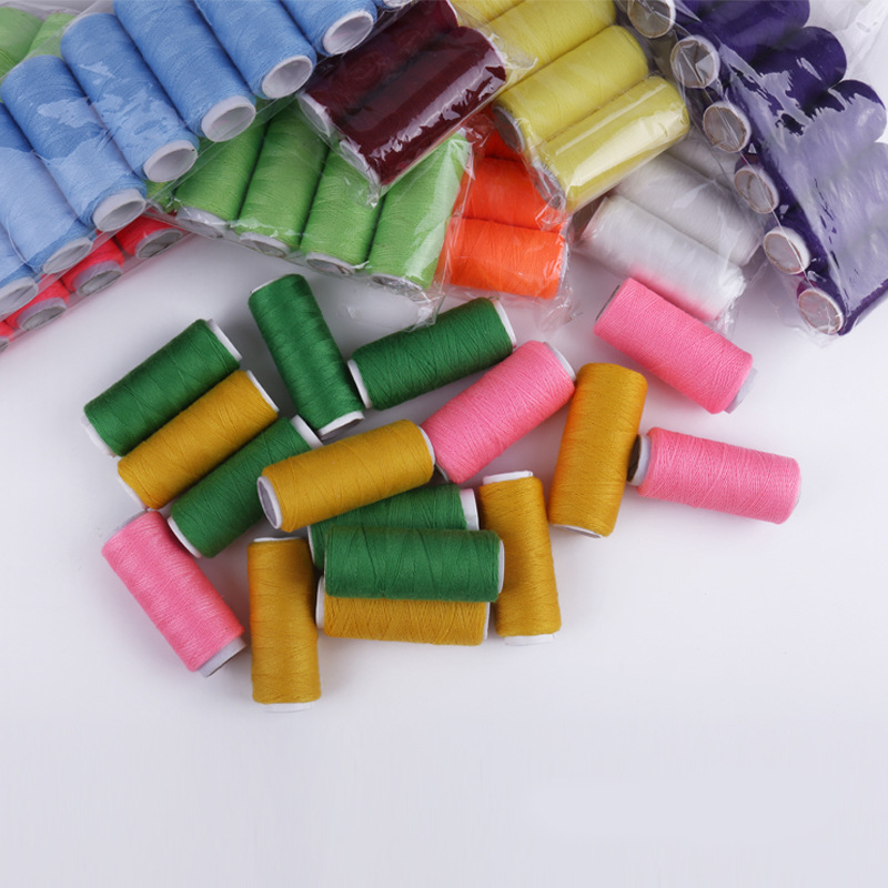10pieces/lot 10 Colour Random Sewing Thread Tools Quilting Supplies Polyester Embroidery for Sewing Machine Hand Stitching