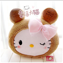 Super Kawaii Hello Kitty Cookie Biscuits Plush Cushion Staffed Animal Toy Kids Doll Best Gift for Girls Home Decoraiton(China)