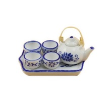 Happy Family 1 Set of Chinese Style Teapot 1:12 Dollhouse Miniature Furniture Multicolor Free Shipping