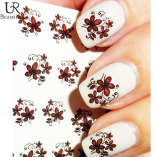 1 sheet Beautiful Flower Nail Decals Water Transfer Foils Nail Art Stickers Wraps DIY Decoration for Beauty Nail Tools BEBLE1834
