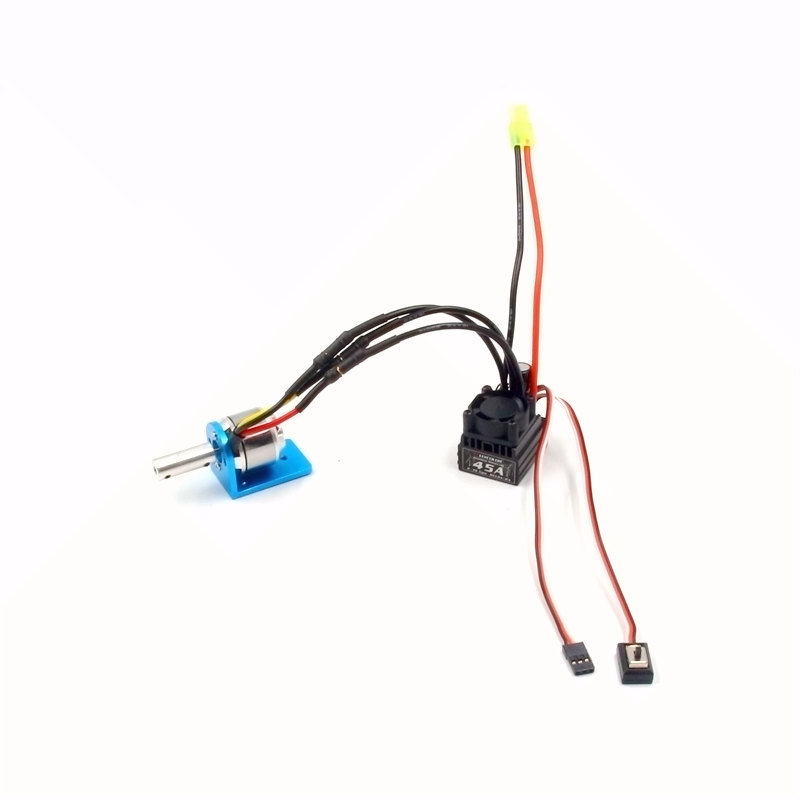 RC boat power combo 2627 4200KV motor + 45A 2-way ESC with motor mount and coupling for FT009 45cm boats brushless upgrade<br>