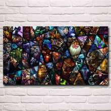 Dota 2 Video Game Art Silk Fabric Poster Prints Home Wall Decor Painting Boy Room Gift 11x20 16x29 20x36 Inches Free Shipping