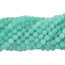 Amazonite Loose Beads Round 6mm Fine Jewelry Accessories NEW DIY Findings For Women Men Necklace Making 2 Strands About 60PCs*2(China)