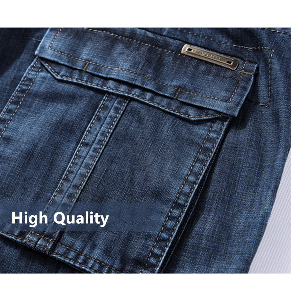 Cargo Jeans Men Big Size 29-40 42 Casual Military Multi-pocket Jeans Male Clothes 17 New High Quality 4