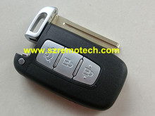Free Shipping Quality New Remote Key blank Smart Card cover 3 Button Keyless Entry Fob shell TOY40 blade Fit For Hyudai
