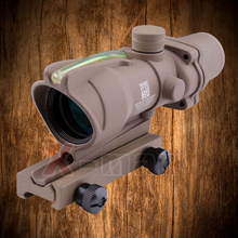 Trijicon ACOG 4X32 Tan Fiber Source Green Illuminated Scope Tactical Hunting Riflescope free transport