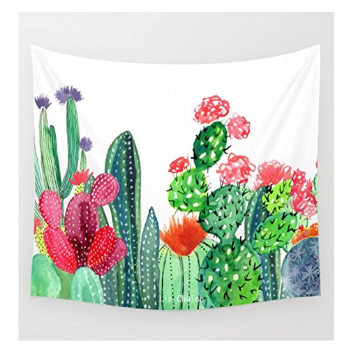 WINLIFE Cactus Tapestry Headboard Home Decor Cactus Wall Hanging Art 51