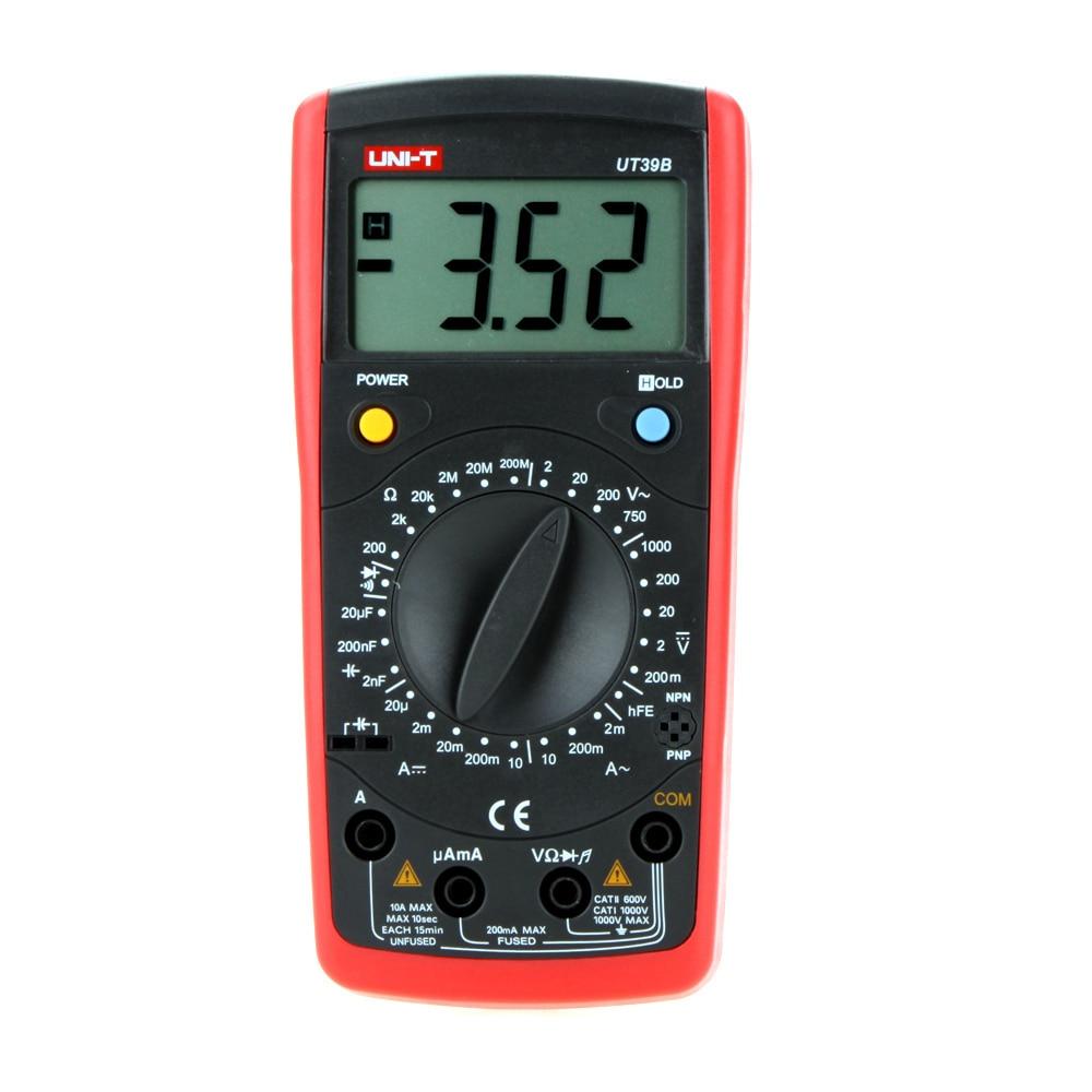 4-8 days arrival UNI-T UT39B+ Professional Ammeter Multitester LCD Backlight General Digital Multimeters w/Capacitance LCR Meter<br><br>Aliexpress