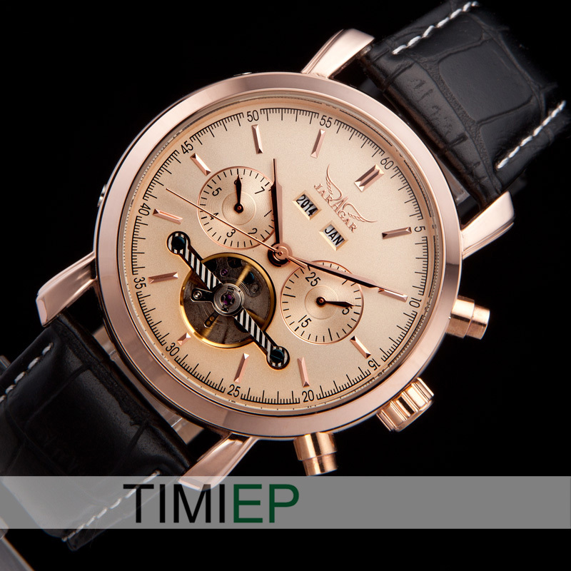 All Rose Gold Tone Luxury Automatic Mechanical Analog Elegant Mens Watch For Business Man<br>