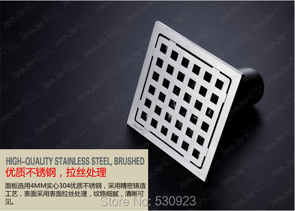 Stainless Steel Shower Square Floor Drain 100mm*100mm Ground Overflow Fitting Newly Modern Stylish<br><br>Aliexpress