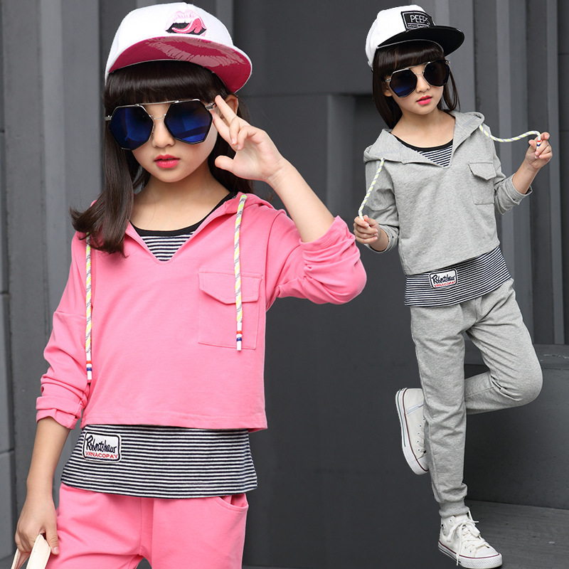 Garment Girl New Pattern Autumn Clothing Suit Children Spring And Autumn Season Three Paper Suit<br>