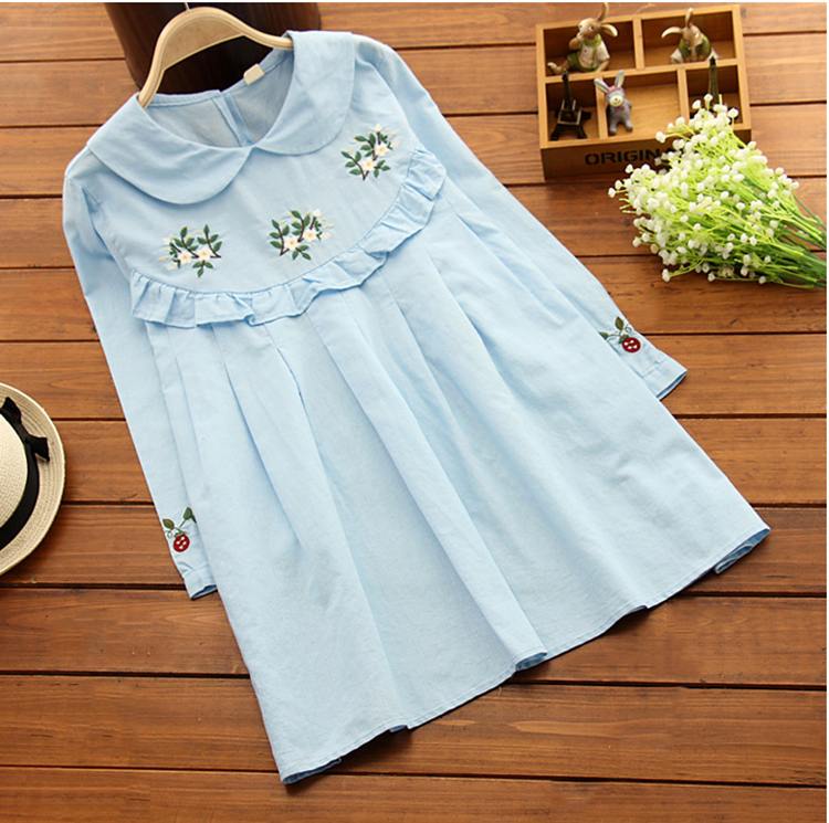 2017 Floral Embroidery Maternity Dress Spring Autumn Fashion Clothes for Pregnant Women Pregnancy Clothing M1MO77